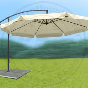 gro er metall ampelschirm gartenschirm beige 3 m sonnenschirm mit kurbel schirm ebay. Black Bedroom Furniture Sets. Home Design Ideas
