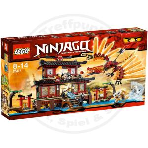 lego ninjago 2507 feuertempel mit figuren waffen und dem. Black Bedroom Furniture Sets. Home Design Ideas