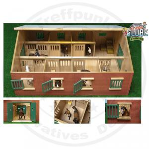 gro e bauernhof holz pferdestall stall 1 24 z b f r schleich bully figuren ebay. Black Bedroom Furniture Sets. Home Design Ideas