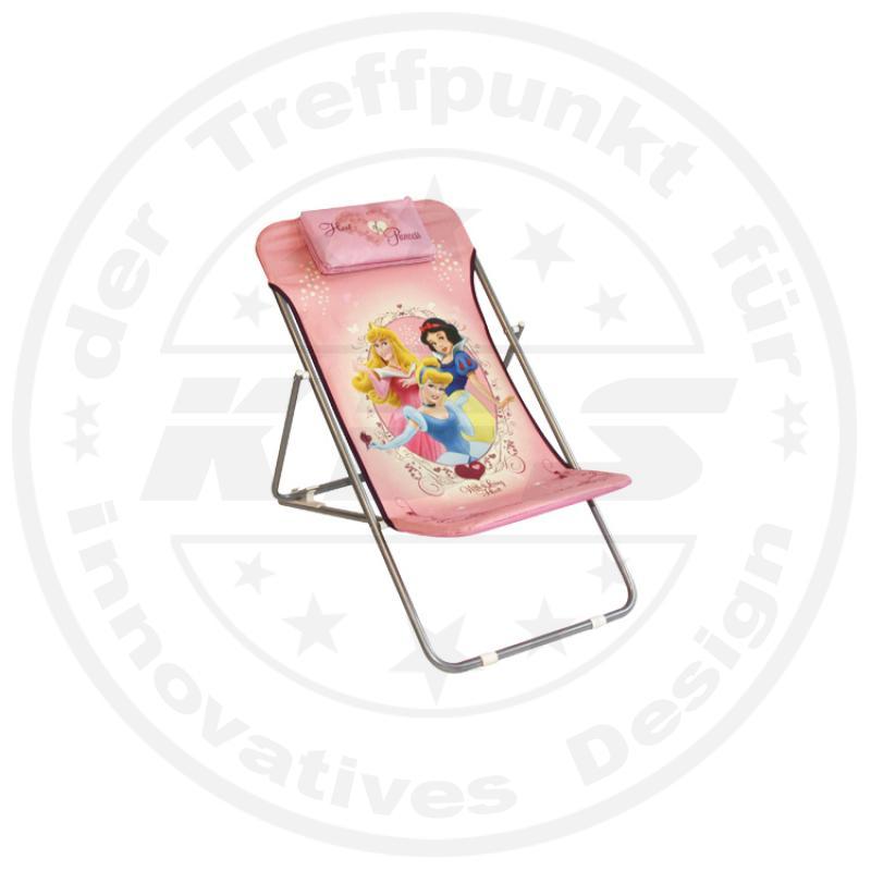 disney princess kinder gartenstuhl rosa lila liegestuhl stuhl campingstuhl ebay. Black Bedroom Furniture Sets. Home Design Ideas