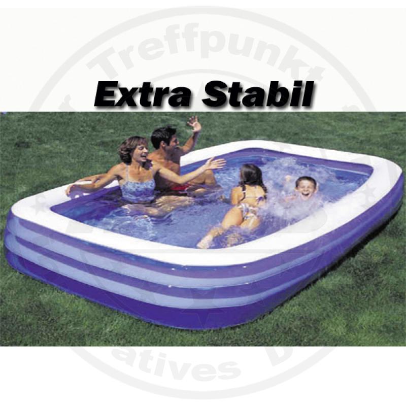 kinder planschbecken splash eckig blau wei 305x183x56cm swimming pool neu ebay. Black Bedroom Furniture Sets. Home Design Ideas