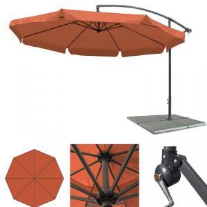 gro er metall ampelschirm gartenschirm terracotta 3 5. Black Bedroom Furniture Sets. Home Design Ideas
