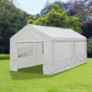 3x6m garten pavillon bierzelt festzelt wei 38kg partyzelt pavillion wasserdicht ebay. Black Bedroom Furniture Sets. Home Design Ideas