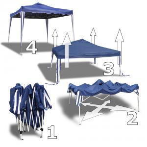 garten pavillon 3x3 blau falt partyzelt festzelt gartenzelt 200d seitenteile neu. Black Bedroom Furniture Sets. Home Design Ideas
