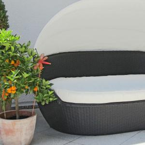 xxl poly rattan sonneninsel garten lounge sitzgruppe sofa baldachin dach kissen ebay. Black Bedroom Furniture Sets. Home Design Ideas