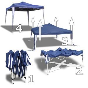 nii falt pavillon 3x3 gartenpavillon bierzelt beige extra wasserdicht partyzelt. Black Bedroom Furniture Sets. Home Design Ideas
