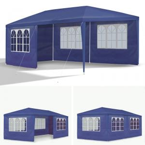 garten pavillon 3x6 m pavillion wasserdicht metall blau bierzelt gartenzelt neu ebay. Black Bedroom Furniture Sets. Home Design Ideas
