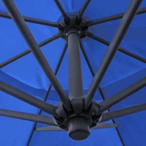 gro er metall ampelschirm gartenschirm blau 3 5 m meter sonnenschirm mit kurbel ebay. Black Bedroom Furniture Sets. Home Design Ideas