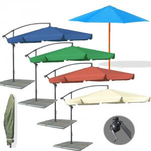 ampelschirm gartenschirm sonnenschirm mit kurbel schirm marktschirm metall holz. Black Bedroom Furniture Sets. Home Design Ideas