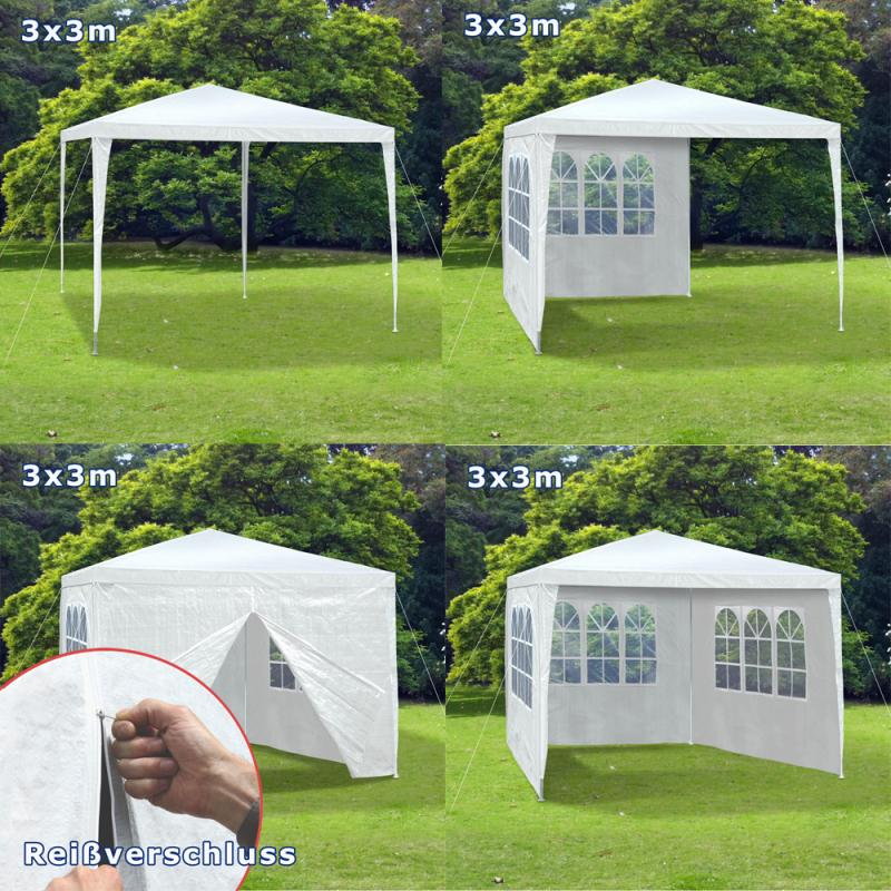 gartenpavillion3x3m party zelt pavillon allzweckzelt oxford 110g wasserabweisend ebay. Black Bedroom Furniture Sets. Home Design Ideas