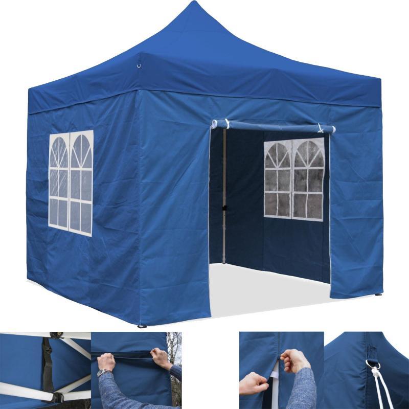 faltpavillion 3x3m garten pavillon party zelt gartenzelt oxford 420d wasserdicht ebay. Black Bedroom Furniture Sets. Home Design Ideas