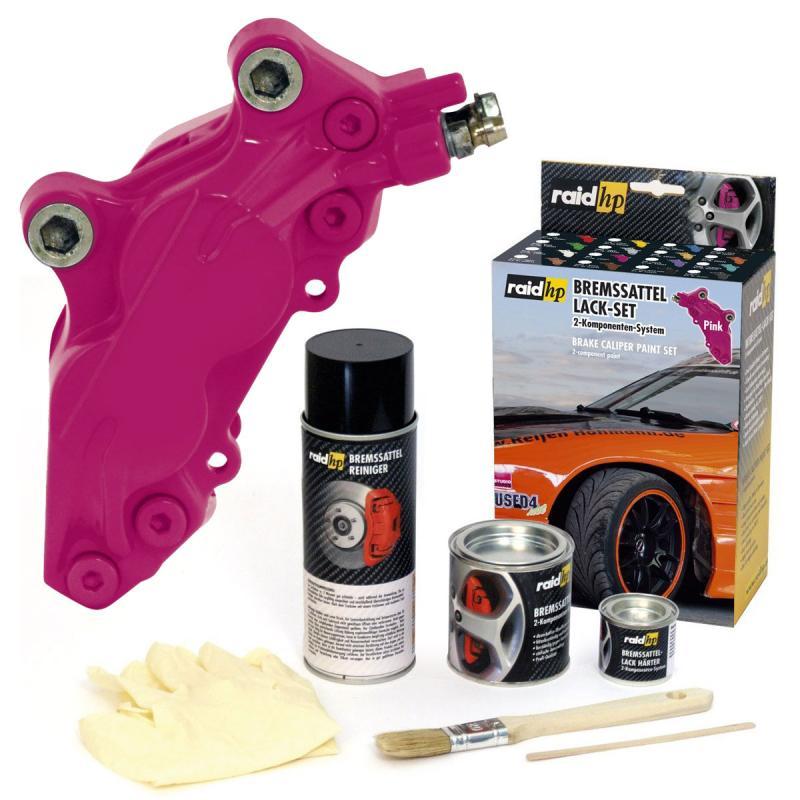 raid hp bremssattellack 6 teiliges 2 komponenten set 300 dino motor lackspray. Black Bedroom Furniture Sets. Home Design Ideas