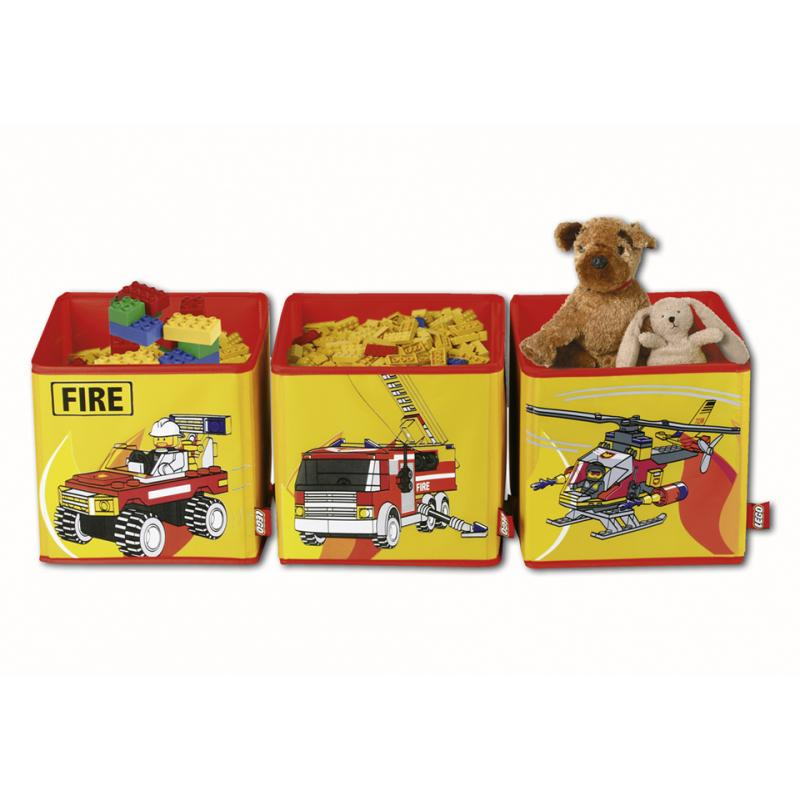 3x lego city feuerwehr aufbewahrungsbox aufbewahrung f r figuren autos spielzeug ebay. Black Bedroom Furniture Sets. Home Design Ideas