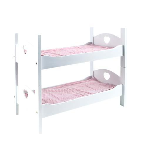 baby puppenbett etagenbett stapelbett puppen bett holz wei inkl zubeh r neu ebay. Black Bedroom Furniture Sets. Home Design Ideas