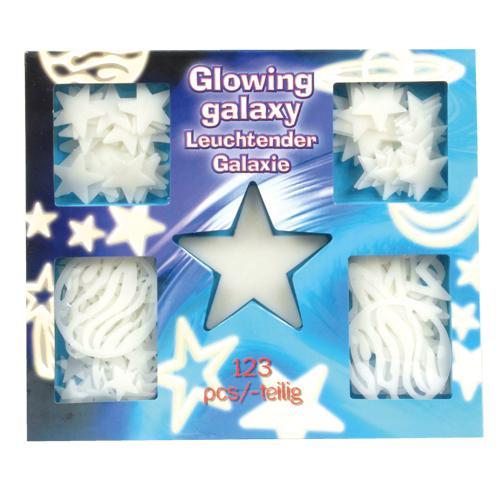 Leuchtsterne GALAXY 123 leuchtende Sterne Sternenhimmel Wandtattoo ...