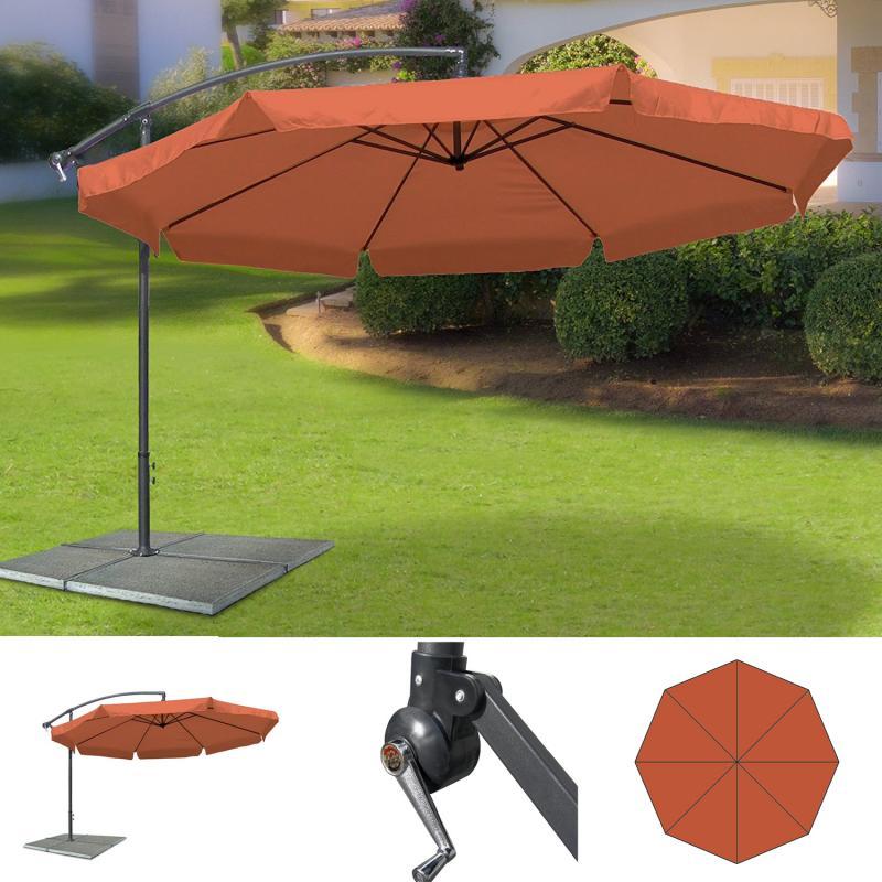 ampelschirm schutzh lle gartenschirm sonnenschirm kurbel schirm marktschirm neu ebay. Black Bedroom Furniture Sets. Home Design Ideas